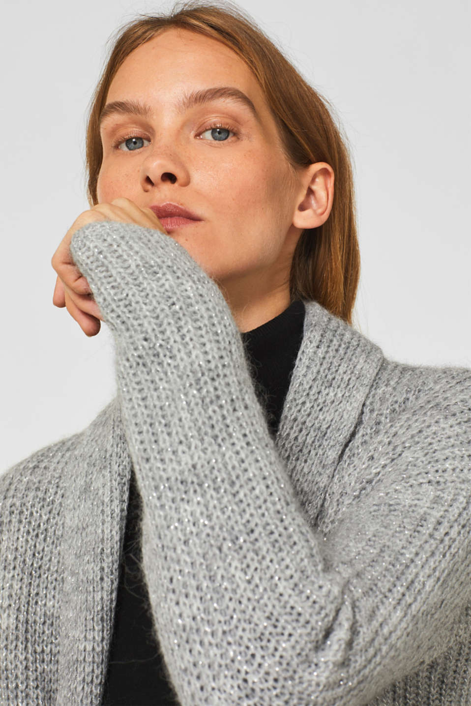 Sweaters cardigan, LIGHT GREY 2, detail image number 2