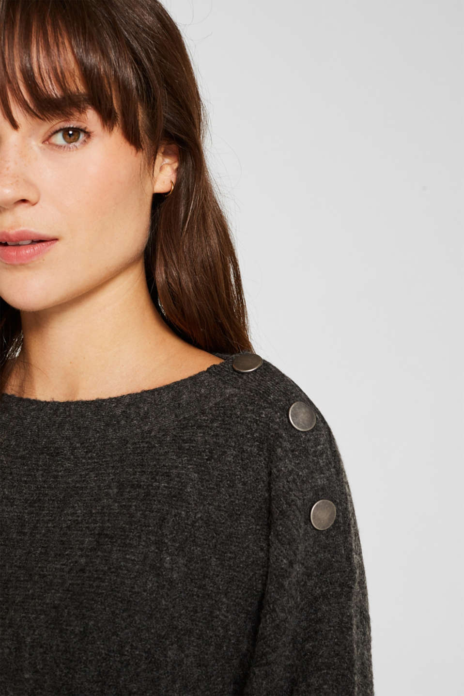 Sweaters, ANTHRACITE 5, detail image number 2
