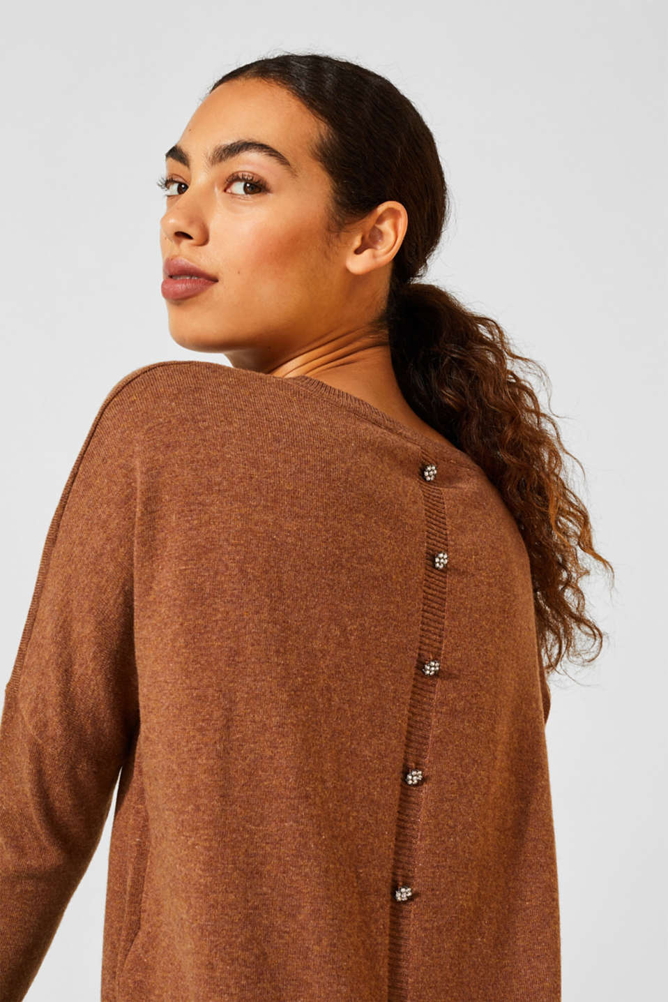 Sweaters, TOFFEE 5, detail image number 2