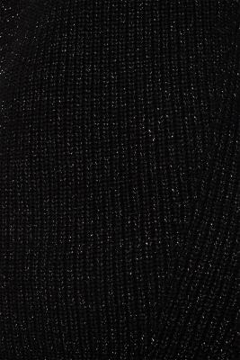Glitter jumper with a zip on the back, BLACK, detail