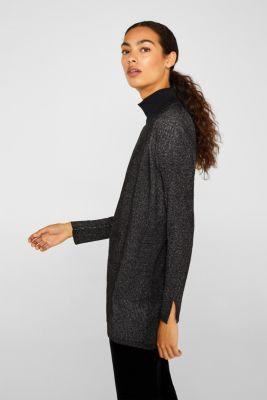 Esprit Ripp Cardigan mit Glitzer Look im Online Shop kaufen