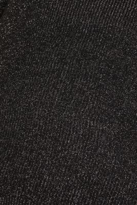 Glittering jumper with draped detail, BLACK, detail