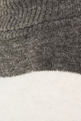 Oversized jumper with wool & alpaca, BLACK, detail