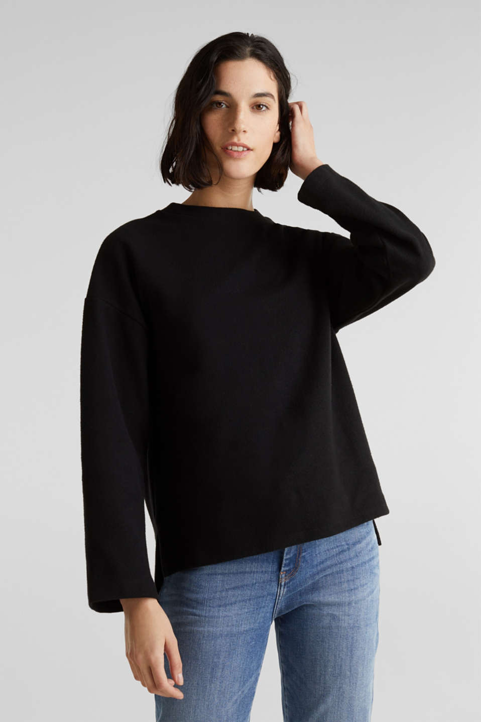 Esprit - Brushed-up sweatshirt