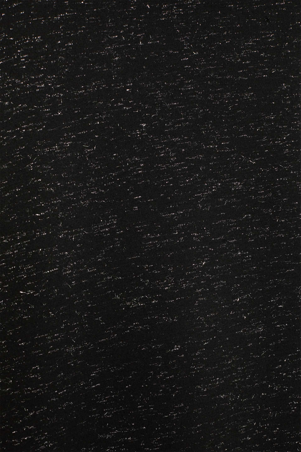 Long T-shirt in a glitter look, BLACK, detail image number 3