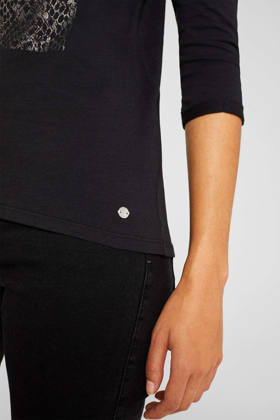 T-Shirts, BLACK, detail image number 2