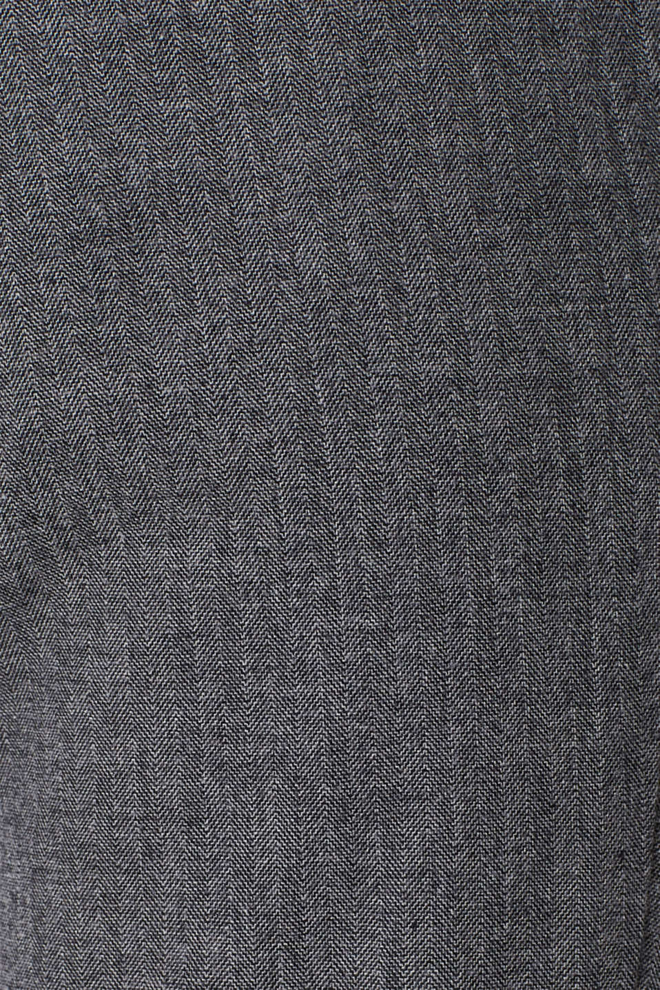 Stretch trousers with a herringbone texture, GREY, detail image number 4