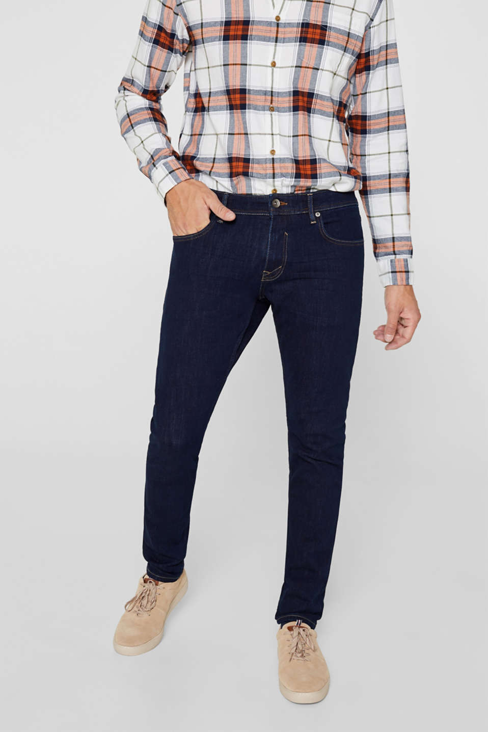 Esprit - Dynamic denim met comfortabele bi-stretch