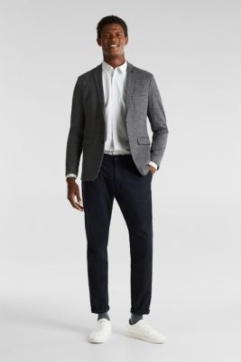 Two-tone stretch chinos, NAVY, detail