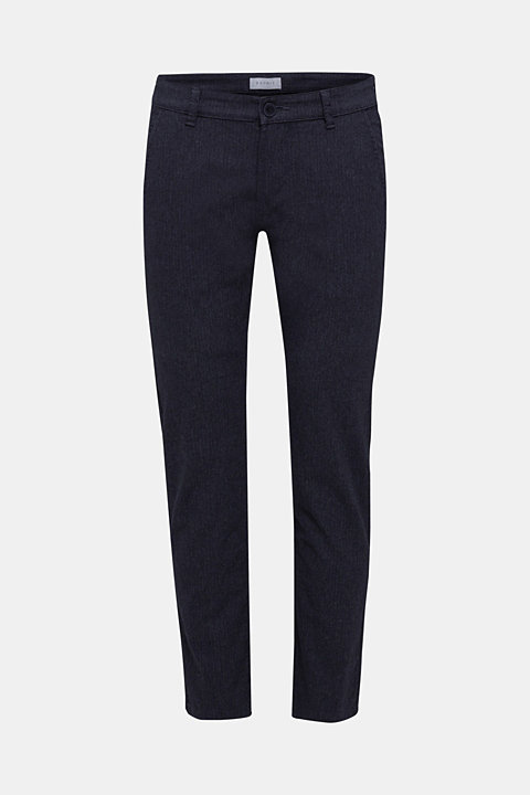 Two-tone stretch chinos