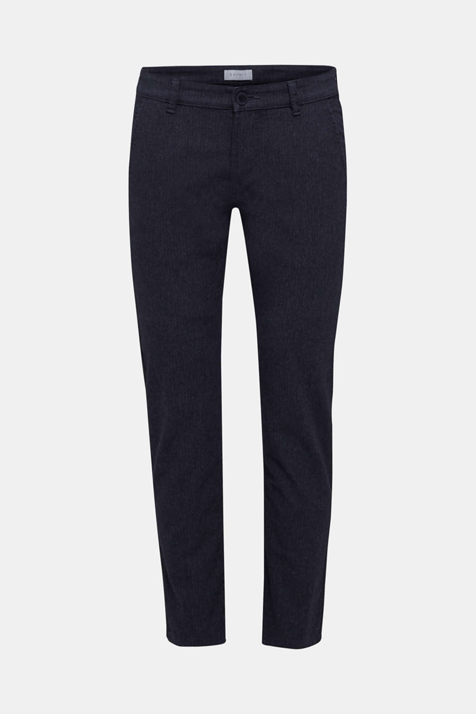 Two-tone stretch chinos, NAVY, detail image number 6