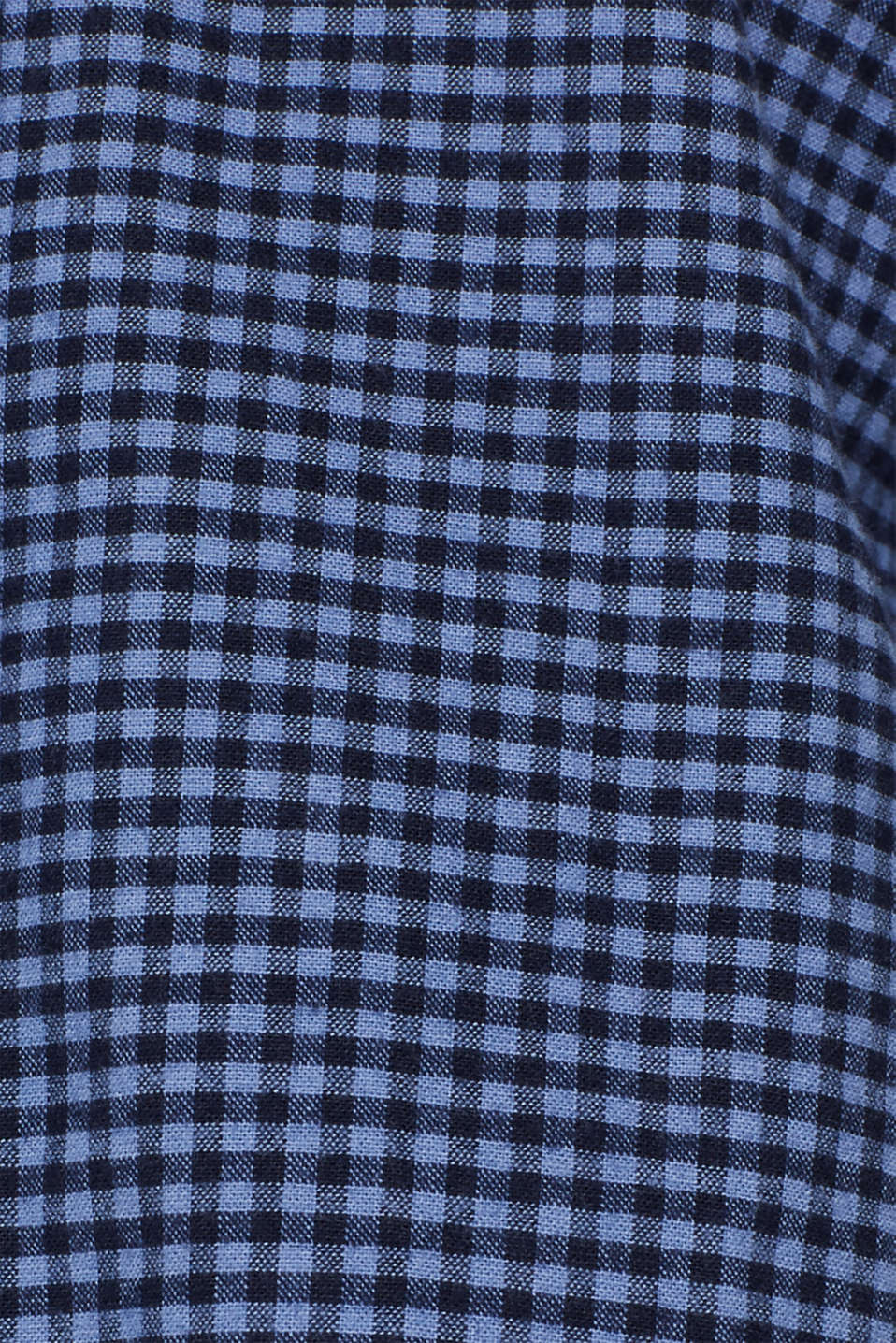 Gingham check shirt, NAVY 2, detail image number 4