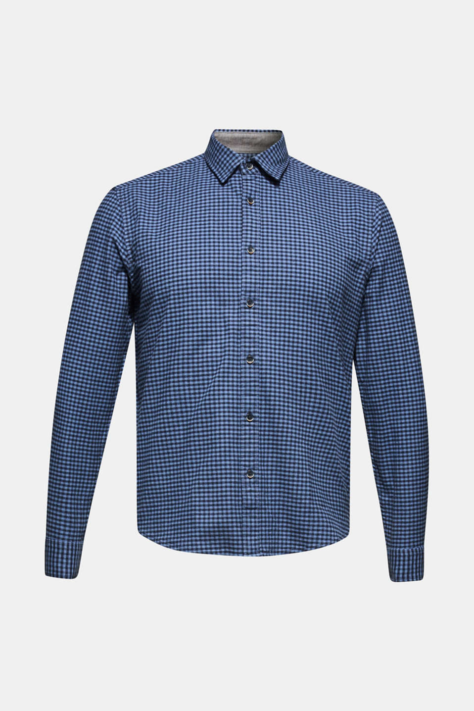 Gingham check shirt, NAVY 2, detail image number 6