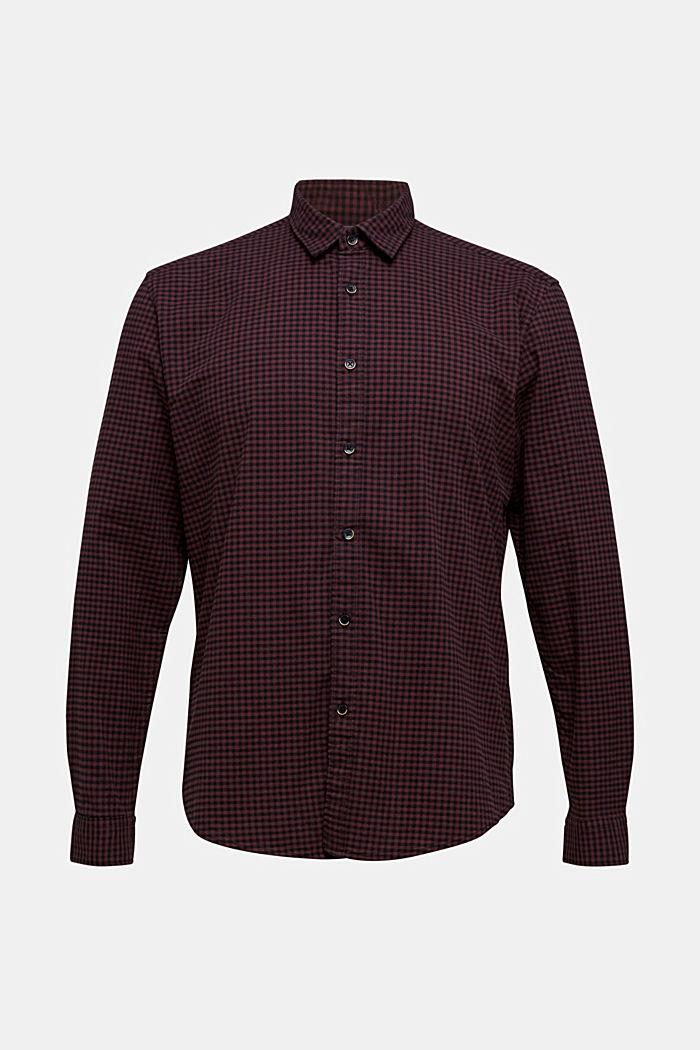 Gingham check shirt, GARNET RED, detail image number 7