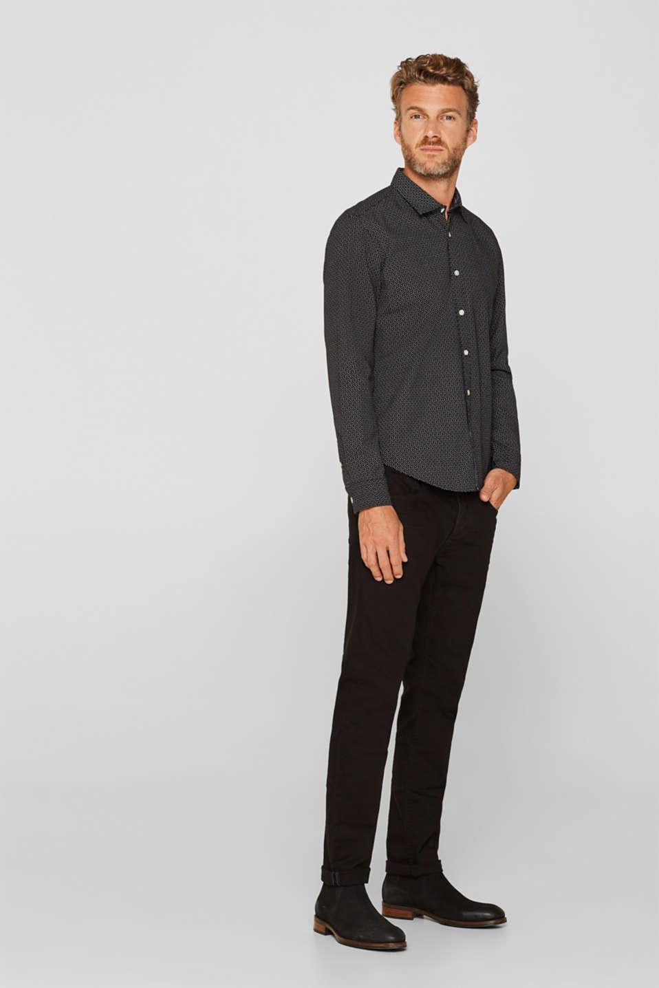 Shirts woven Slim fit, BLACK, detail image number 6