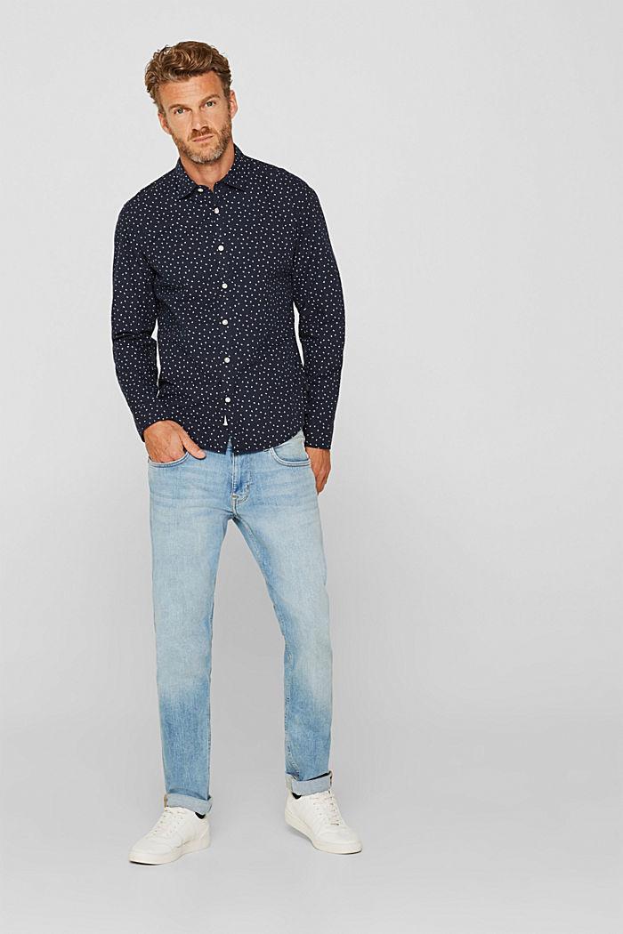 Hemd mit Tupfen-Print, 100% Baumwolle, NAVY, detail image number 5