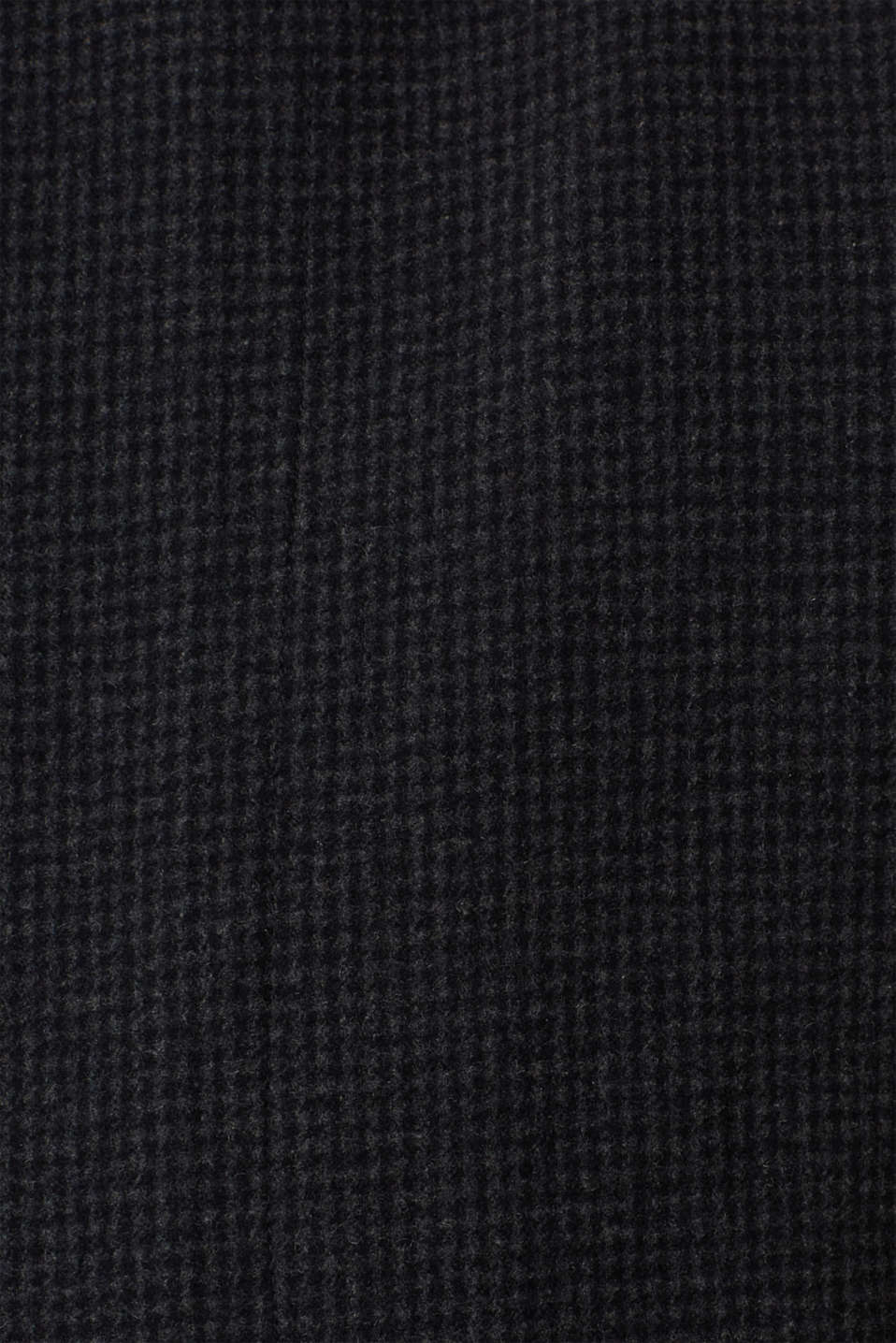 Wool blend: coat with check pattern, ANTHRACITE, detail image number 4