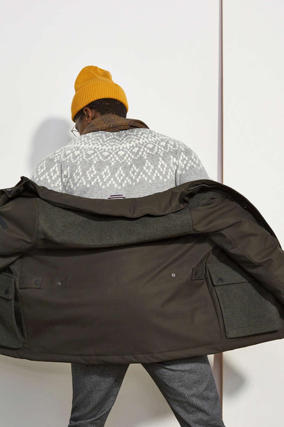 Jackets outdoor woven, DARK KHAKI, detail image number 4