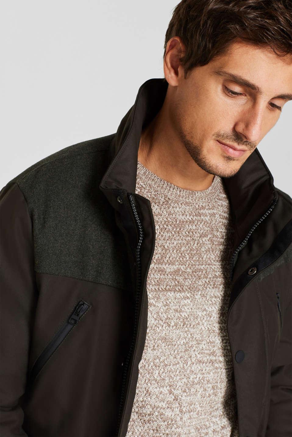 Jackets outdoor woven, DARK KHAKI, detail image number 6