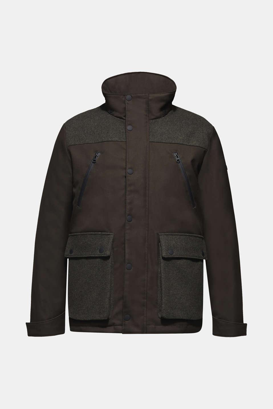 Jackets outdoor woven, DARK KHAKI, detail image number 8