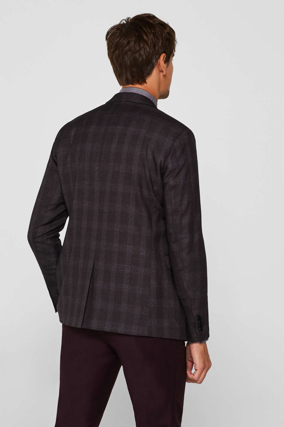 Jacket with a checked pattern, DARK GREY, detail image number 3