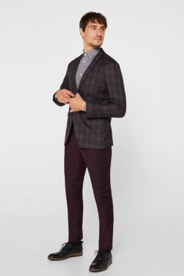 Jacket with a checked pattern, DARK GREY, detail