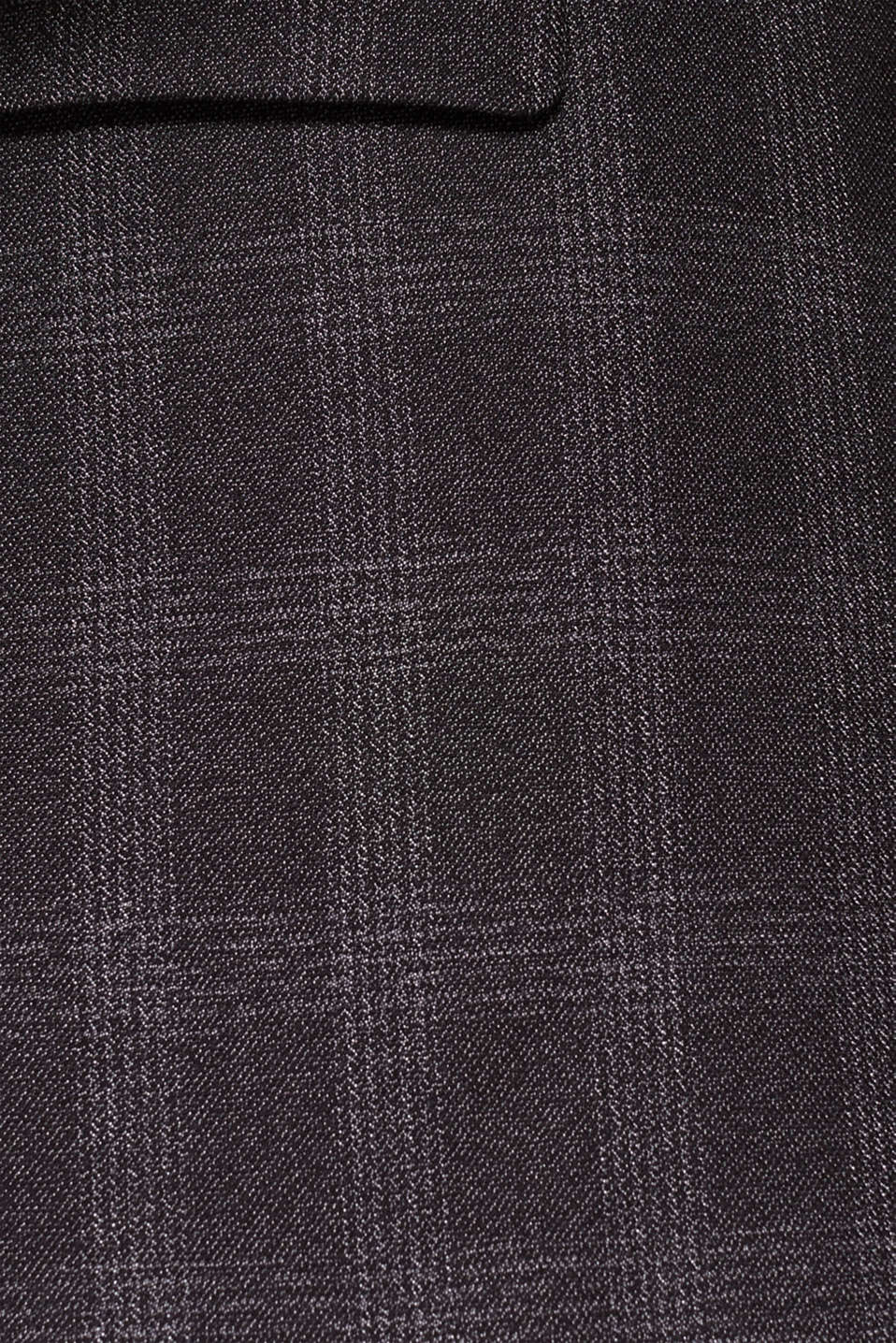 Jacket with a checked pattern, DARK GREY, detail image number 4