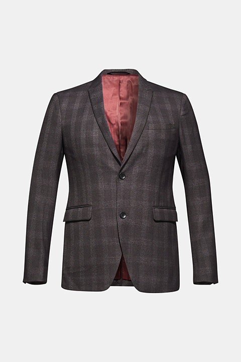 Jacket with a checked pattern