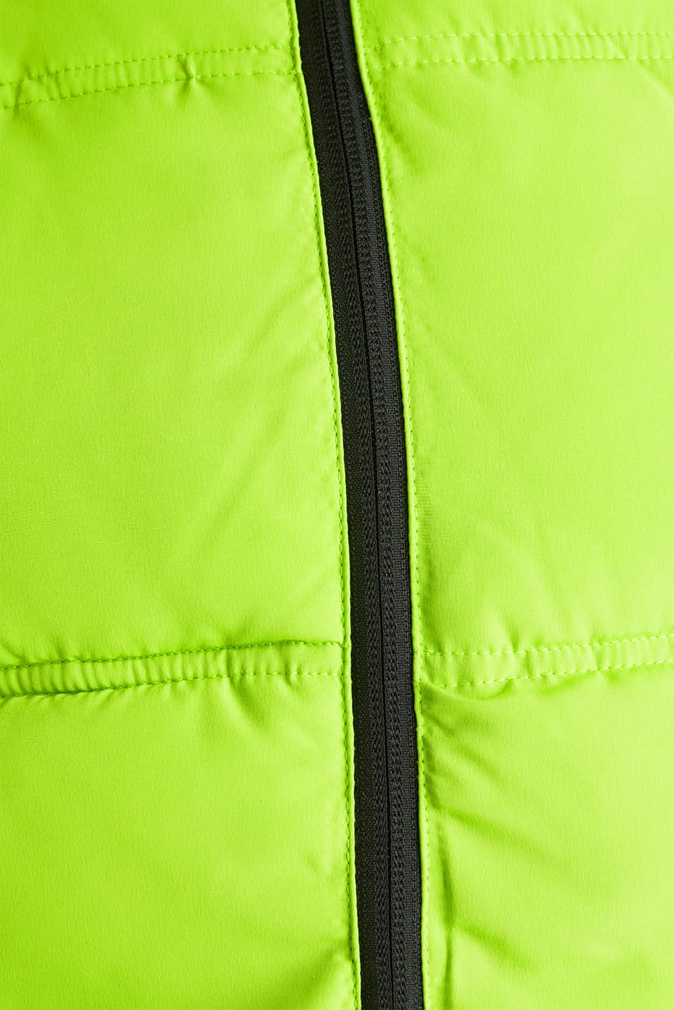 Hooded quilted jacket, CITRUS GREEN, detail image number 4