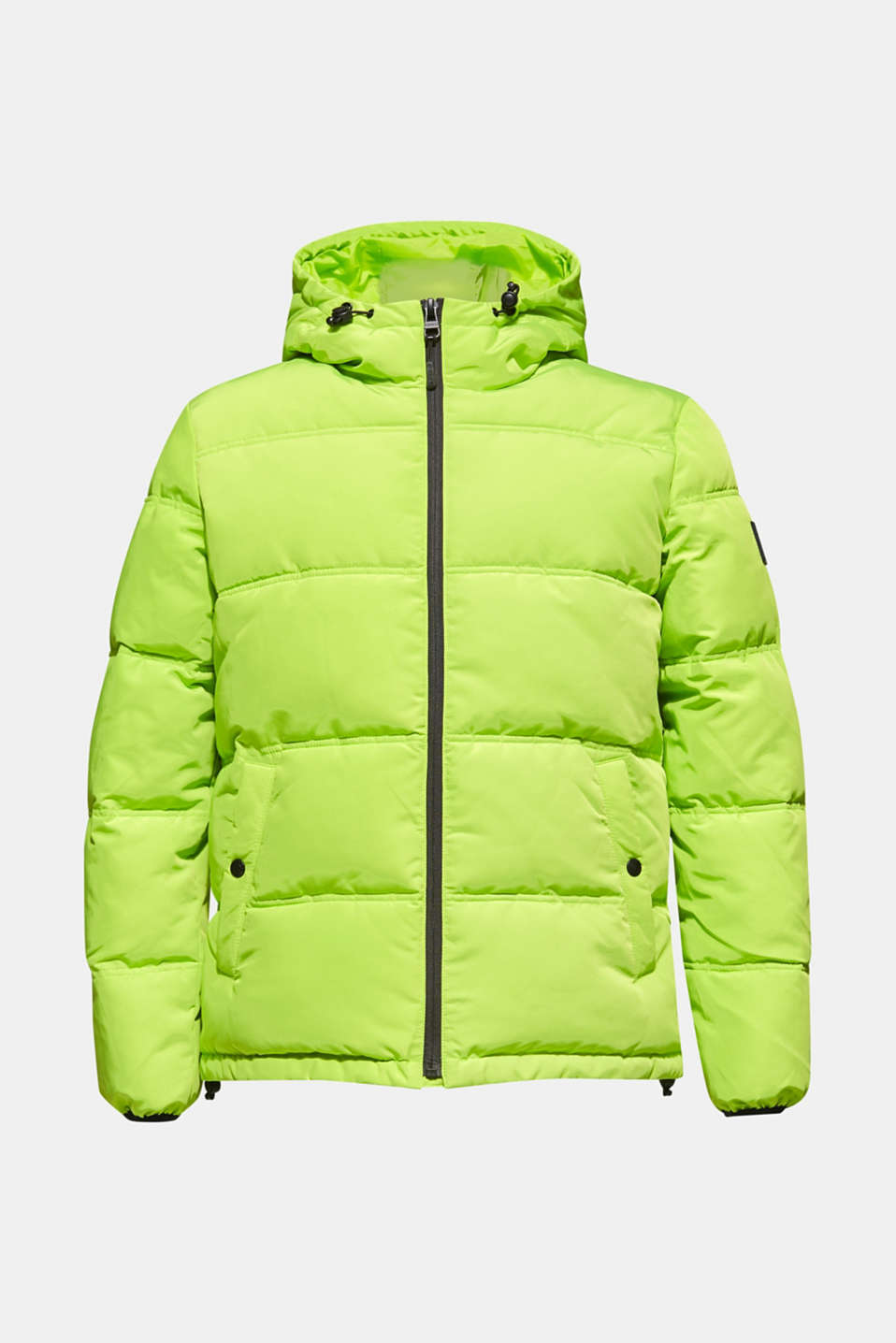 Hooded quilted jacket, CITRUS GREEN, detail image number 7