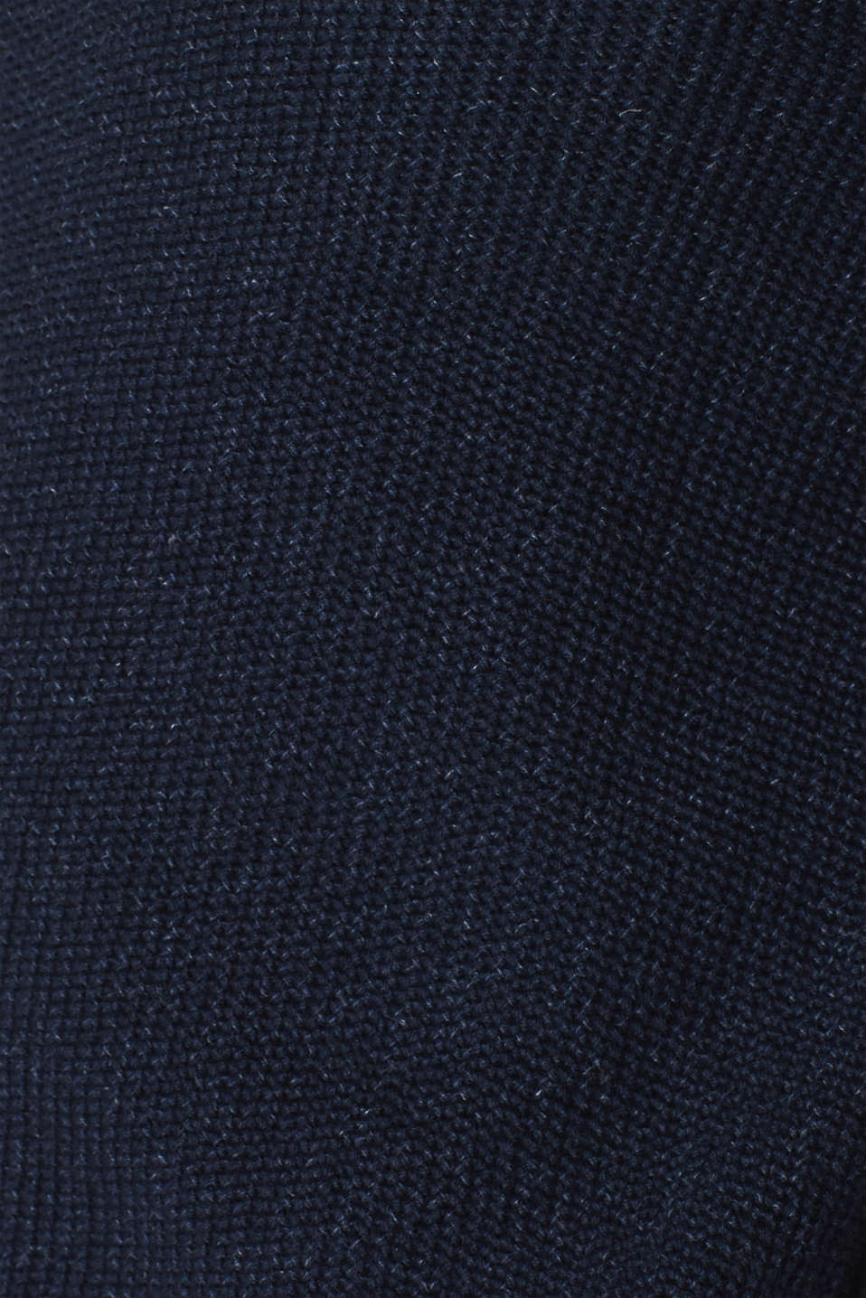 Knitted button-neck jumper in 100% cotton, NAVY, detail image number 4