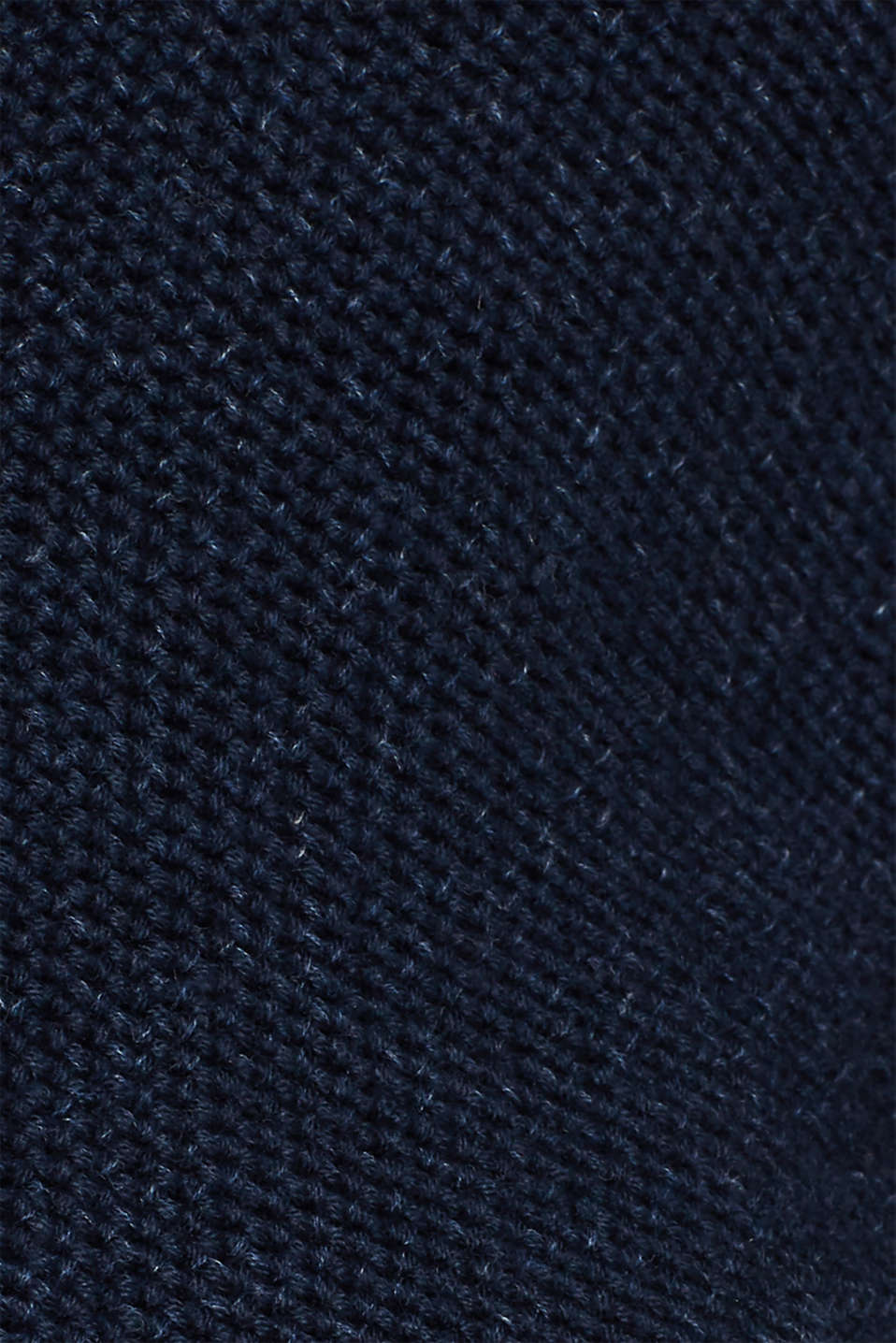 Chunky knit cardigan made of 100% cotton, NAVY, detail image number 4