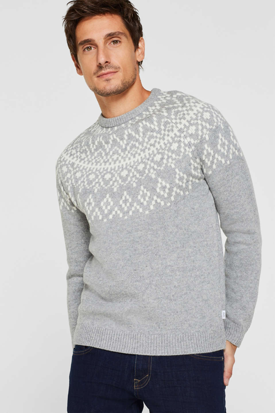 Esprit - With wool: Fair Isle knit jumper