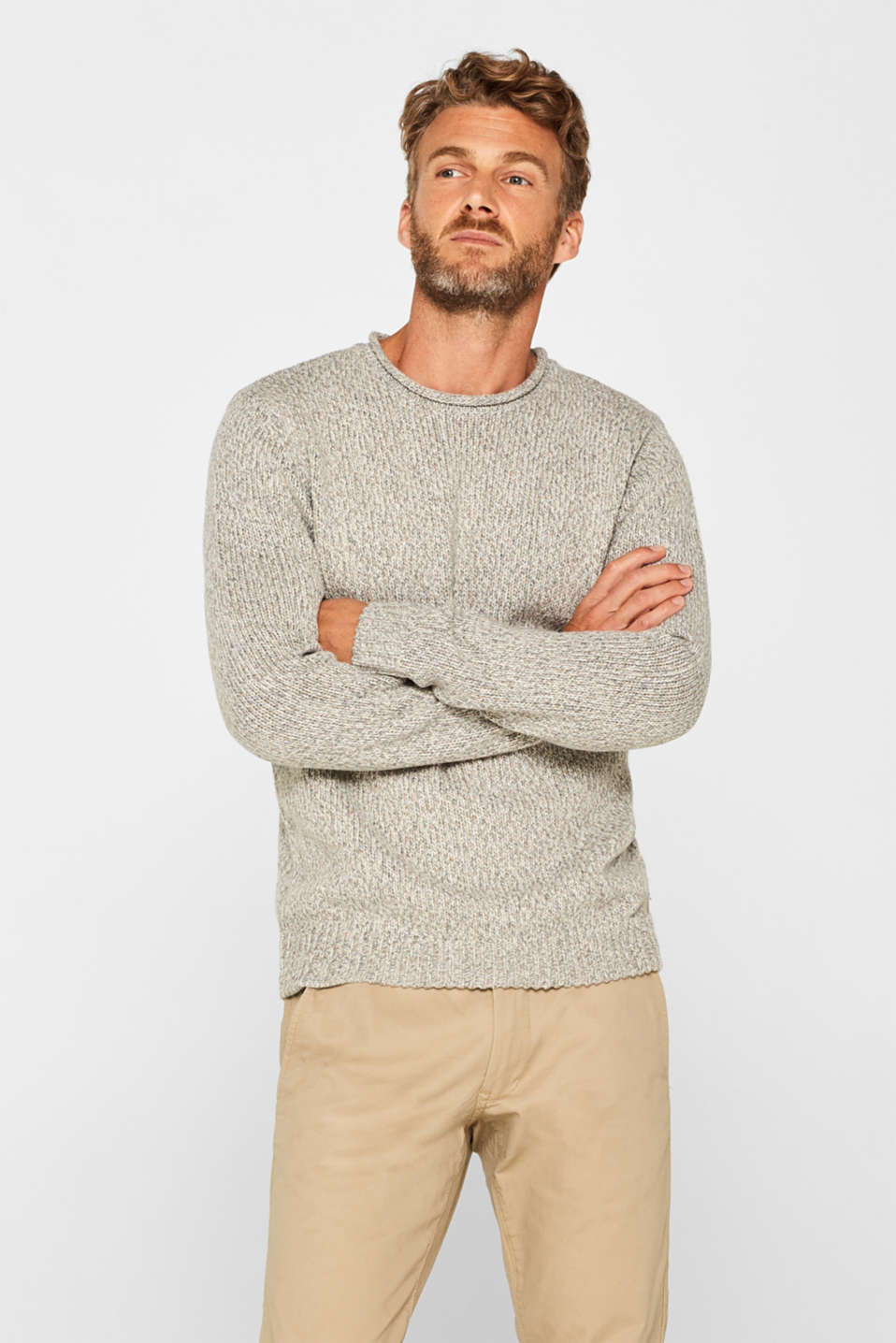 Esprit - Wool blend: melange knit jumper