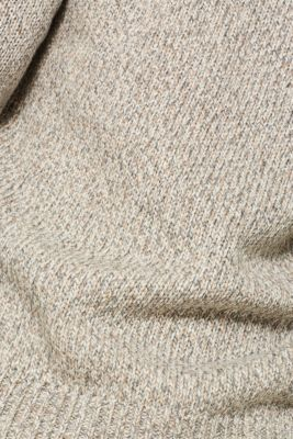 Wool blend: melange knit jumper, GREY, detail