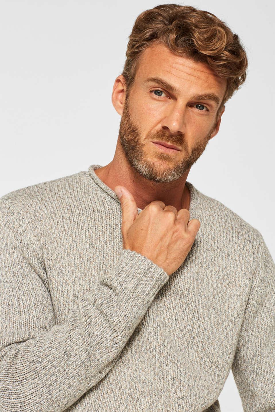 Wool blend: melange knit jumper