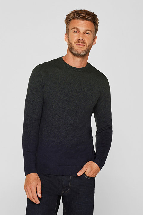 With wool: jumper with colour gradation