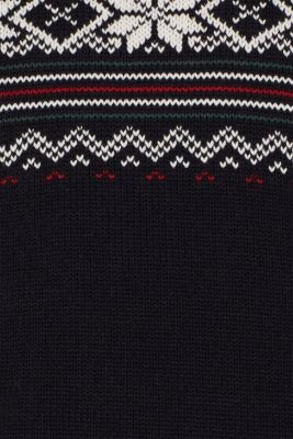With wool: Jumper with a Fair Isle pattern