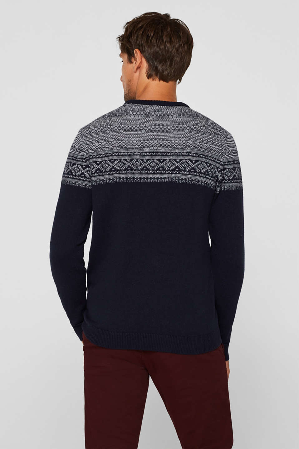 Sweaters, NAVY, detail image number 3