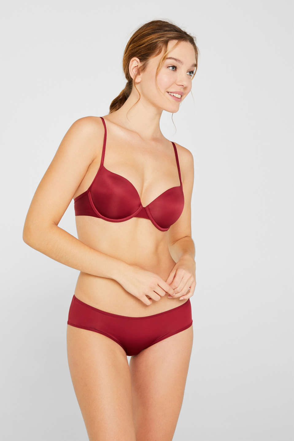 Esprit - Padded underwire bra with a fine sheen