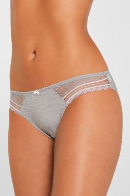 Hipster briefs with embellished lace