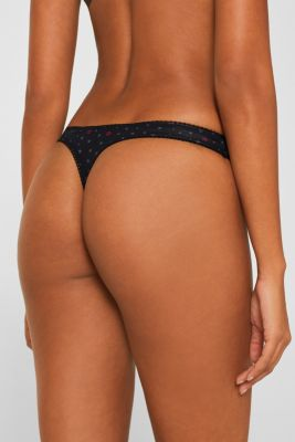 Hipster thong with print