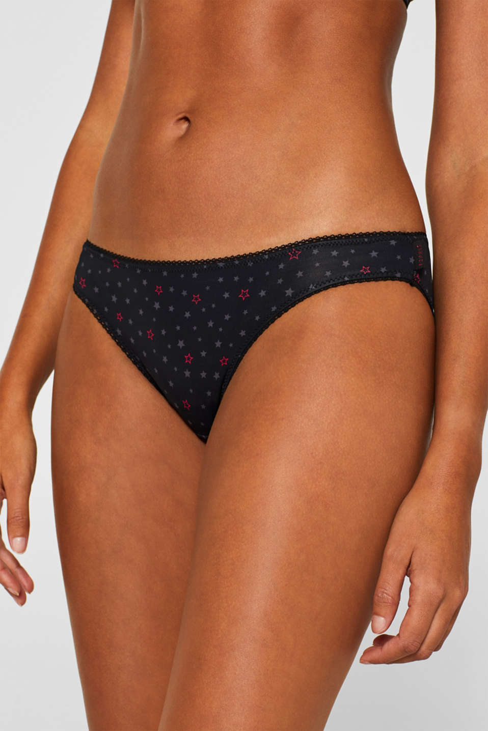 Hipster briefs with a print, BLACK, detail image number 1