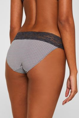 Hipster briefs with print and lace
