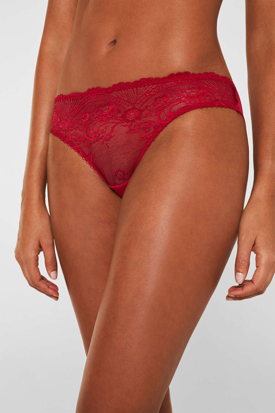 Hipster briefs with lace, CHERRY RED, detail image number 1