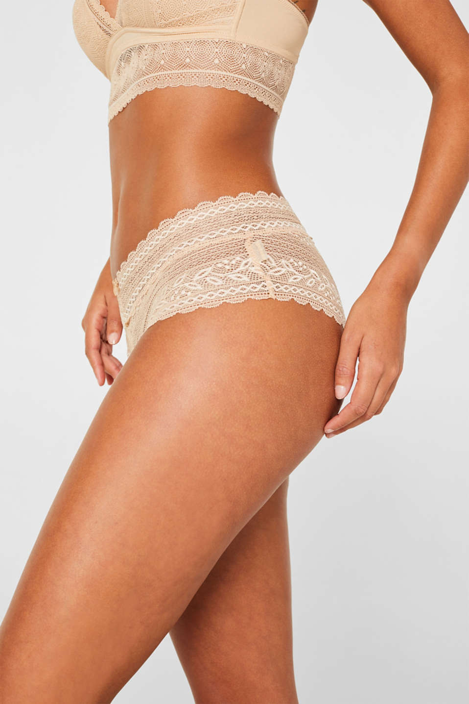 Hipster briefs in lace, DUSTY NUDE 5, detail image number 1
