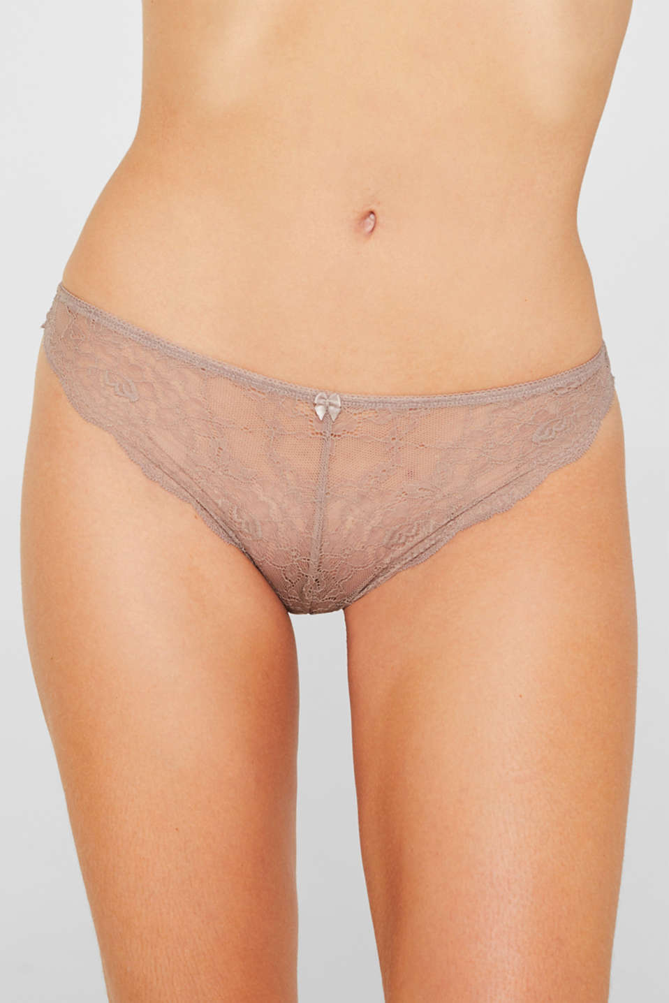 Delicate lace hipster thong, TAUPE, detail image number 3