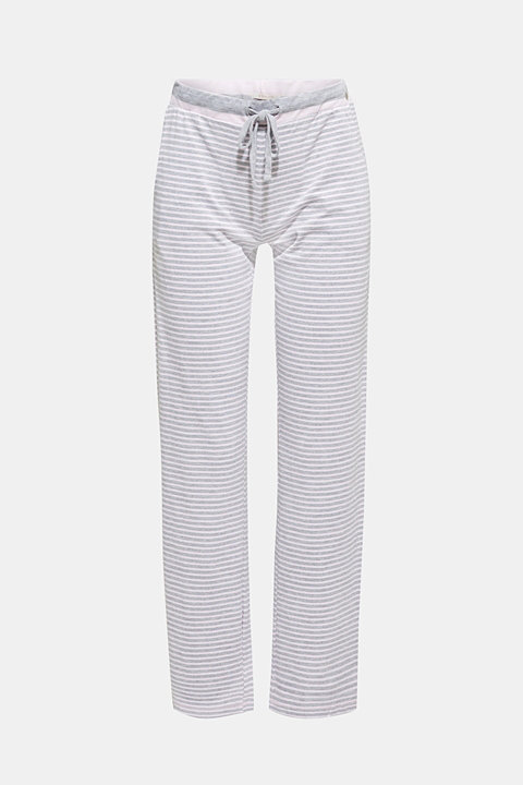 Melange jersey trousers with stripes