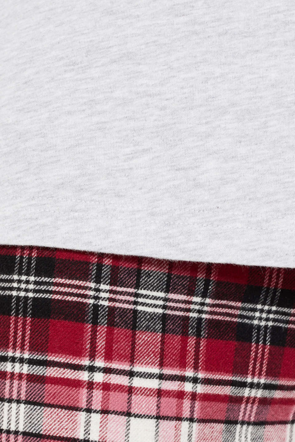 Jersey/flannel pyjamas, 100% cotton, DARK RED, detail image number 4