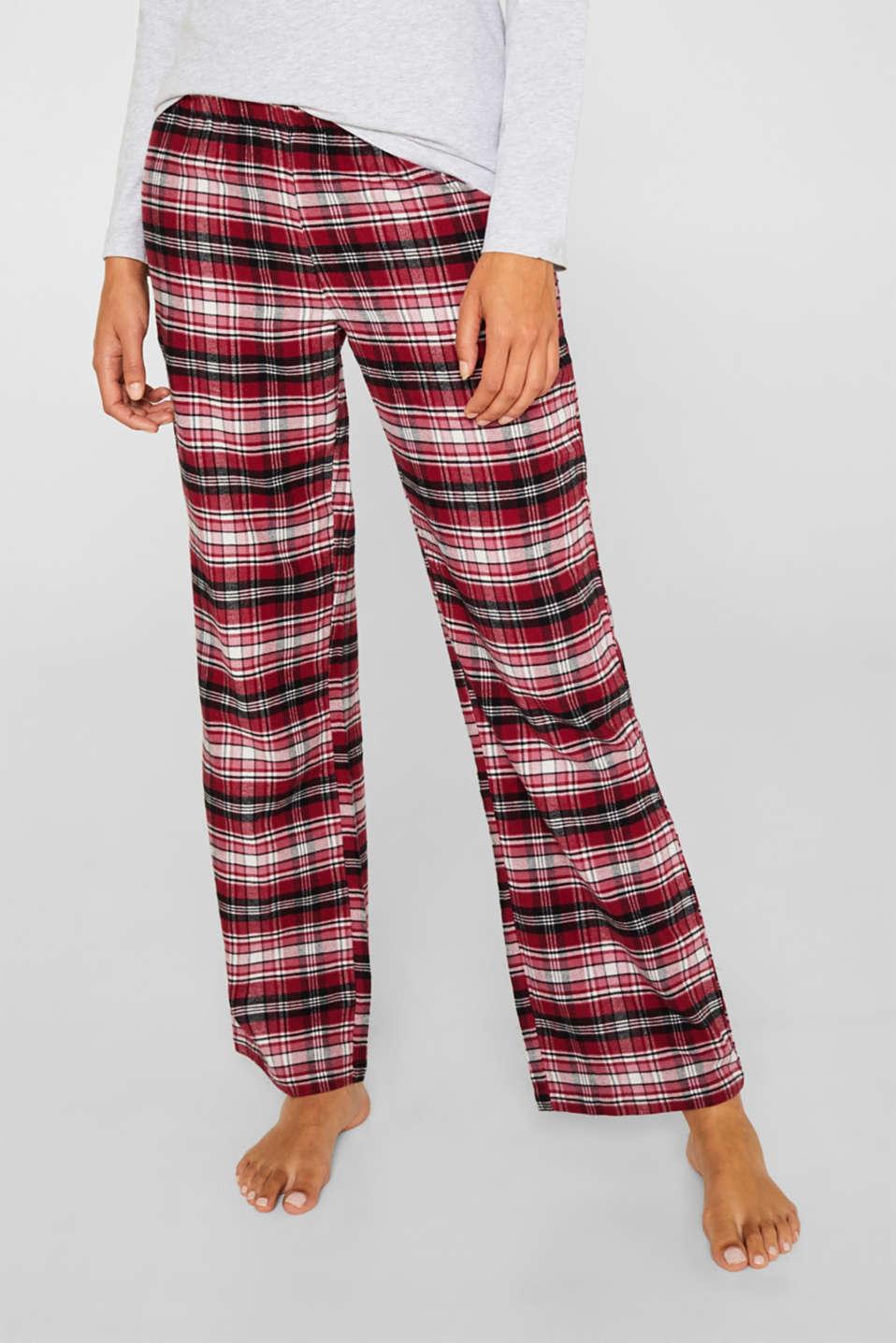 Jersey/flannel pyjamas, 100% cotton, DARK RED, detail image number 6